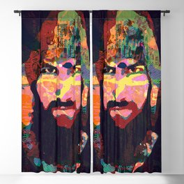 Beards are sexy - men with beard, mustage and beanie Blackout Curtain
