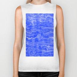 Egyptian Marble, Lapis Blue Biker Tank