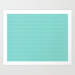 d127a9773 Teal Gingham Large Checks Art Print