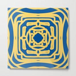 Medallion Princess Blue & Aspen Gold Metal Print