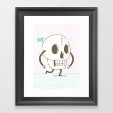 As I Skate through the Valley of Death Framed Art Print
