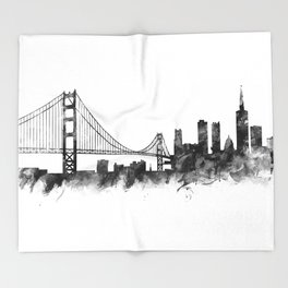 San Francisco Skyline Throw Blanket