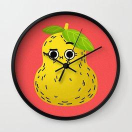 Hey Pear Wall Clock