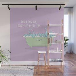 Rub A Dub Dub #kawaii #tub Wall Mural