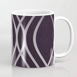 Custom Purple and Silver Geometric Pattern Coffee Mug