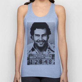 Pablo Escobar Mug Shot 1991 Vertical Unisex Tank Top