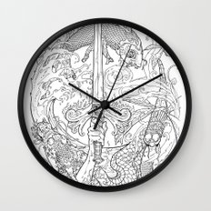 The Eye of the Storm Wall Clock