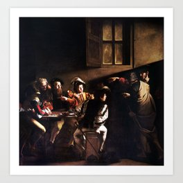 Caravaggio The Calling of Saint Matthew Art Print