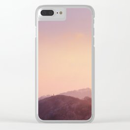 Alone at Sunset Clear iPhone Case