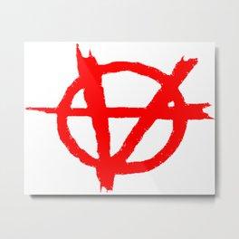 Vagenda Logo - Basic Red Metal Print