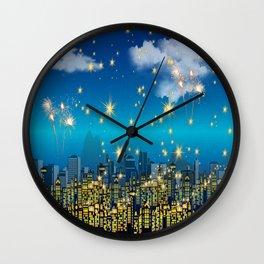 happy new year holiday parties Wall Clock
