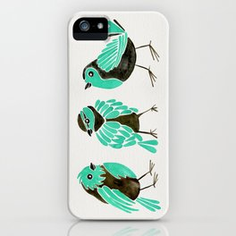 Turquoise Finches iPhone Case
