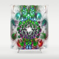 smoking Shower Curtains featuring smoking feathers by haroulita