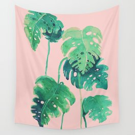 tropical pink Wall Tapestry