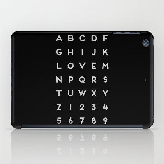 Letter Love - Black iPad Case