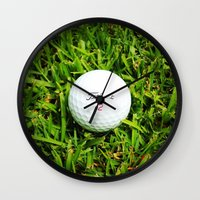 golf Wall Clocks featuring GOLF by Cooper Designs