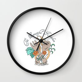 Hand Drawn Illustrations The Beautiful Kitchen Gift Wall Clock