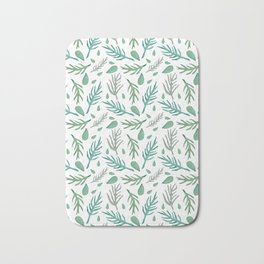 Baesic Watercolor Leaves Bath Mat