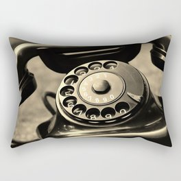 Vintage telephone Rectangular Pillow