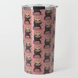 Frenchie Ninja Travel Mug