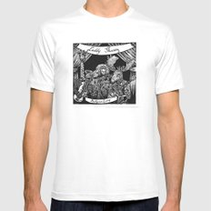 Luddy Mussy/ bull goose looney album cover black and white White MEDIUM Mens Fitted Tee