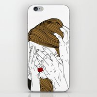 introvert iPhone & iPod Skins featuring Introvert 7 by Heidi Banford