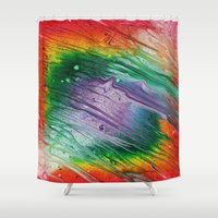square Shower Curtains featuring Square by Justin Similey