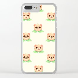 Bear Peach Repeat Clear iPhone Case