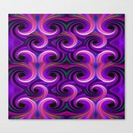 Swirled and Twirled Colors Canvas Print