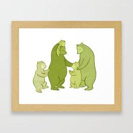 Bear family of Five Framed Art Print
