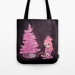 Intercosmic Christmas in Pink Tote Bag