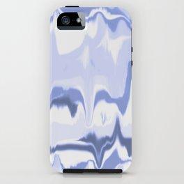 Marbled in ocean iPhone Case