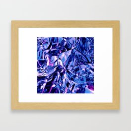 Fluid Painting 3 (Blue Version) Framed Art Print