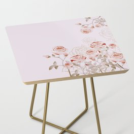 FRENCH PALE ROSES Side Table