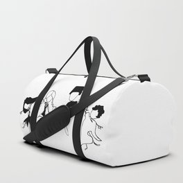 World Dancers - Black and White Duffle Bag