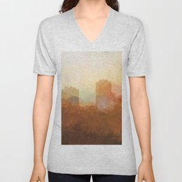 New Orleans, Louisiana Skyline - In the Clouds Unisex V-Neck