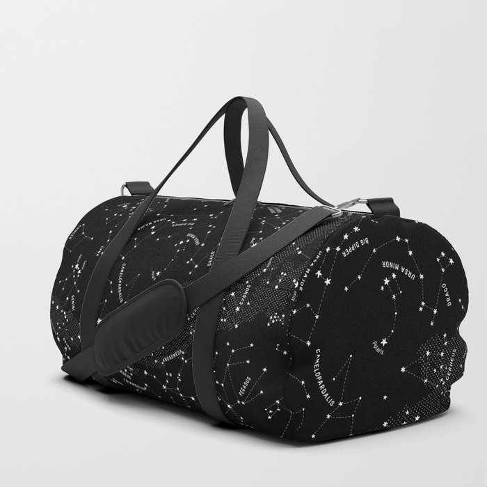Constellation Map - Black Duffle Bag