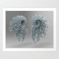 fractal twins Art Print