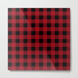 Red Buffalo Plaid Metal Print