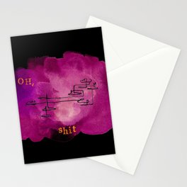 Oh, shit Stationery Cards