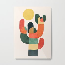 Cactus in the desert Metal Print