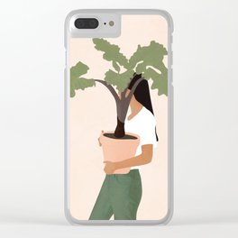 Vase Plant 2 Clear iPhone Case