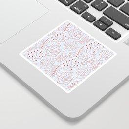 Plant leaf pattern Sticker