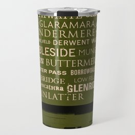 English Lake District Typographic Print Travel Mug