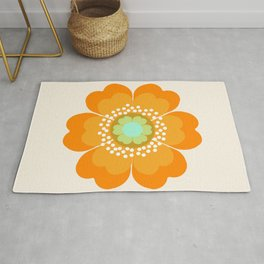 Jivin' - 70's retro throwback art floral flower motif decor hipster Rug