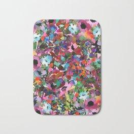 Peach Poppy Confetti Bath Mat