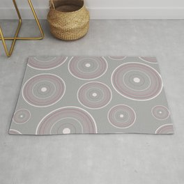 CONCENTRIC CIRCLES IN GREY (abstract pattern) Rug