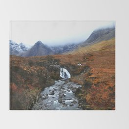 Fairy Pools of Scotland Throw Blanket