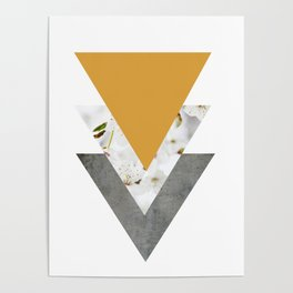 Blossoms Mango Mojito Arrows Collage Poster