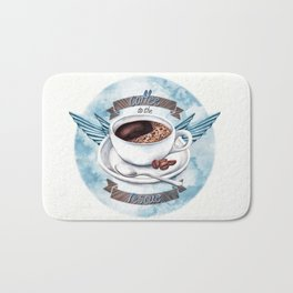 Coffee To The Rescue Bath Mat